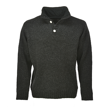 Pure Wool Herentrui Antraciet Maat M - 2XL